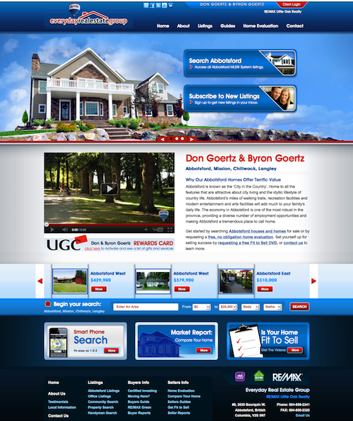 Everyday Real Estate Group website