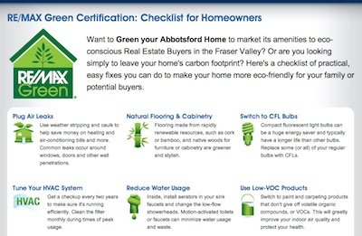 RE/MAX Green landing page