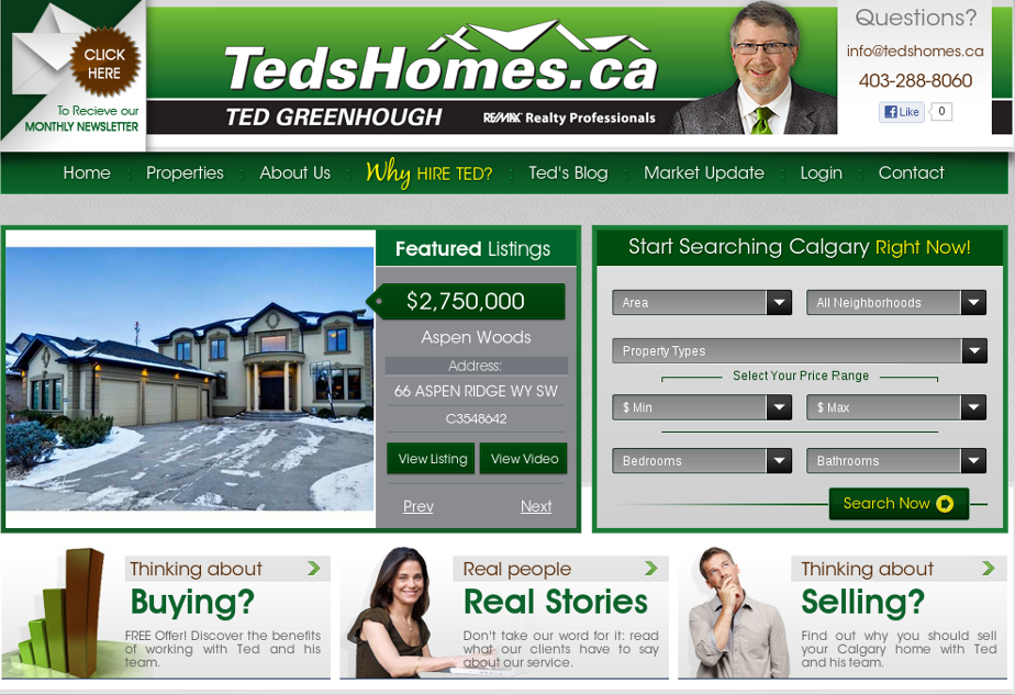 Ted Greenhough Home Page