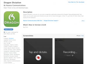 Dragon Dictation: Blooging Tool